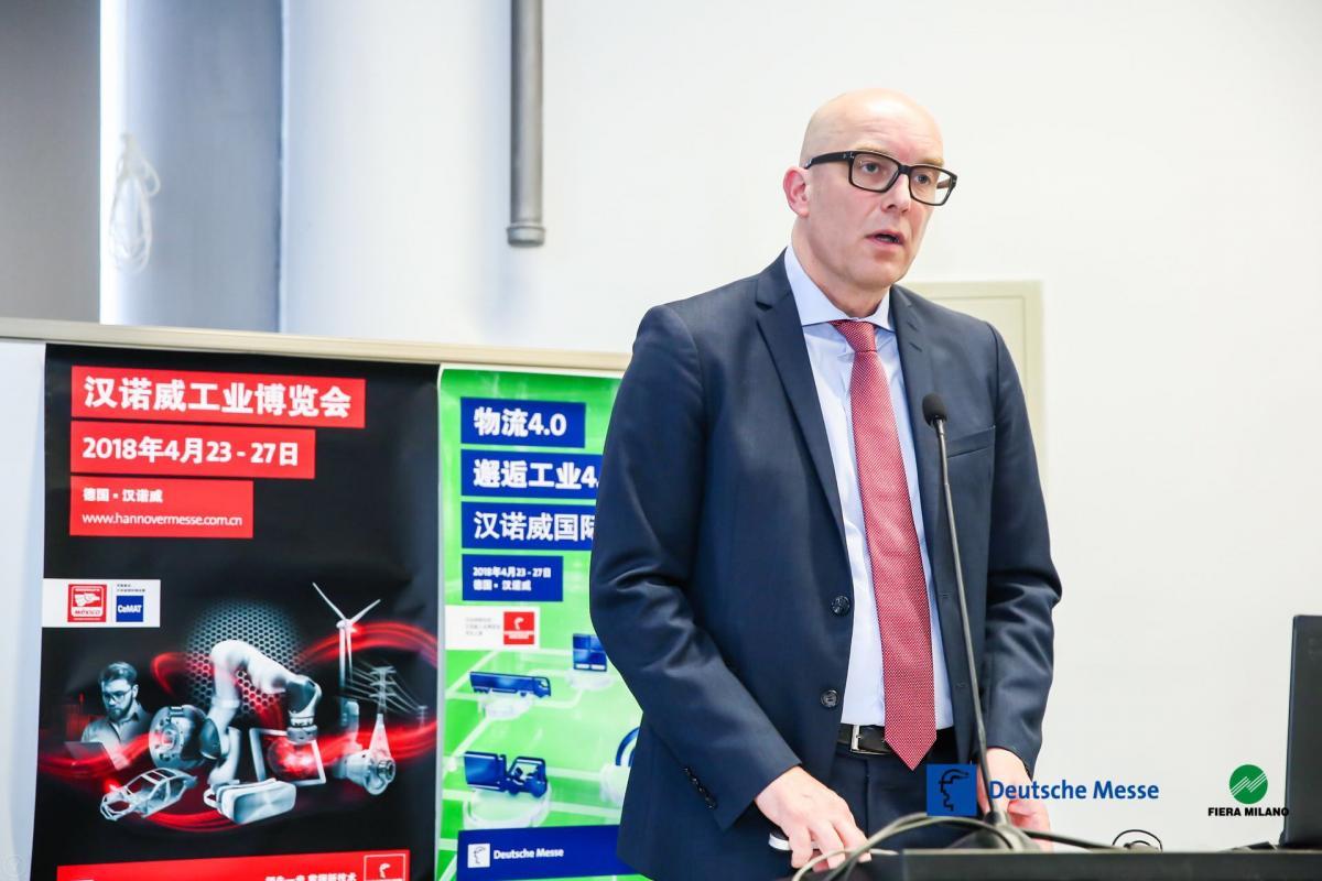 汉诺威工业博览会高级副总裁Marc Siemering